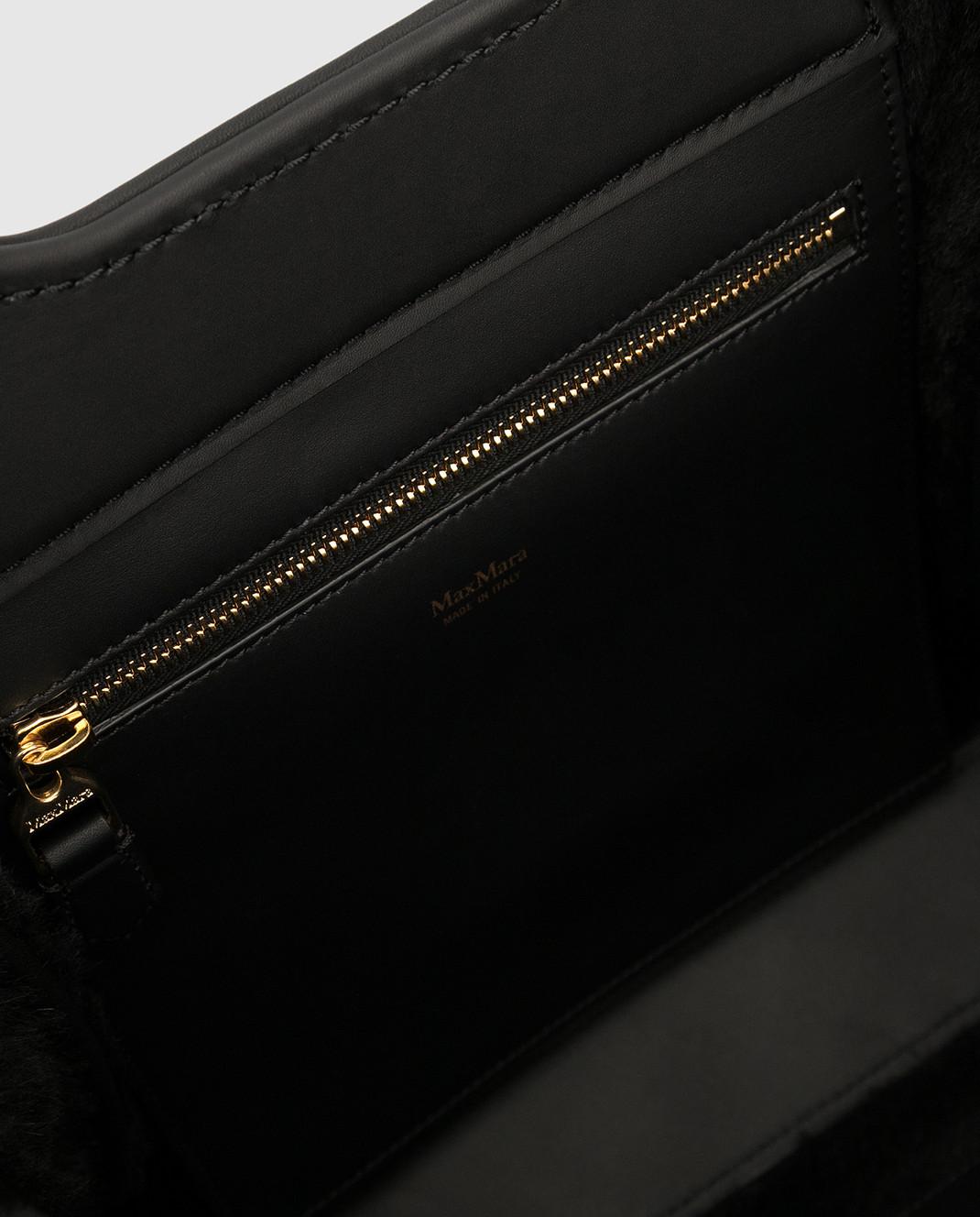 Max Mara Черная замшевая сумка GRACEXS изображение 4