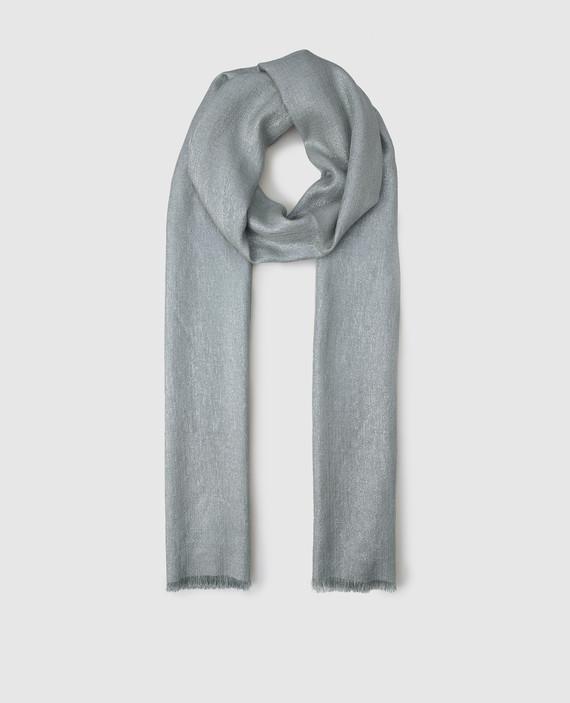 Голубой шарф