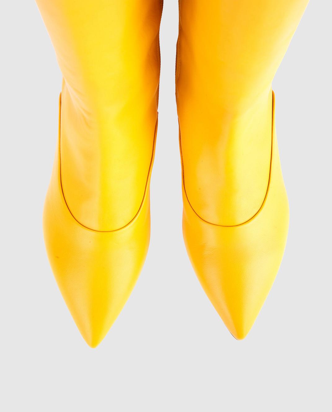 Laurence Dacade Желтые кожаные сапоги SANDRINE изображение 4