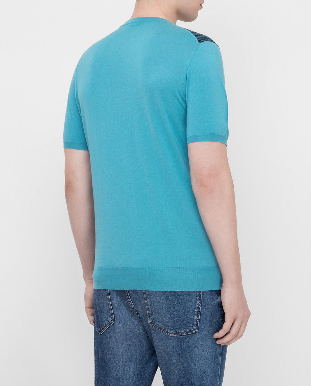 Kiton Голубая футболка UK1044E19 изображение 4