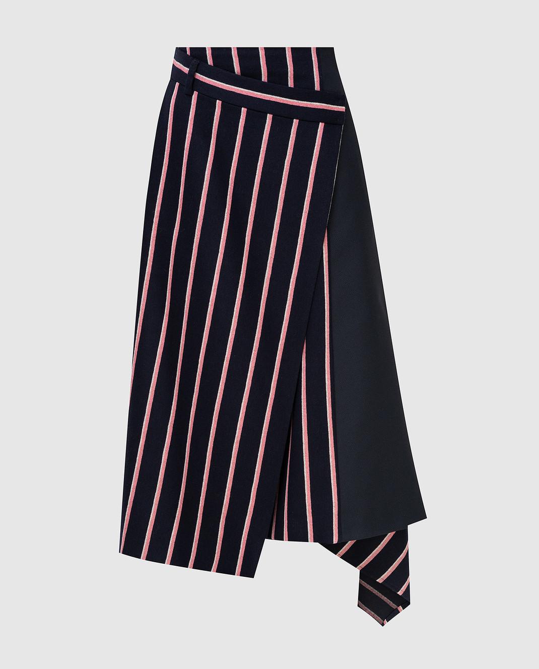 Max Mara Темно-синяя юбка из шерсти PINNE