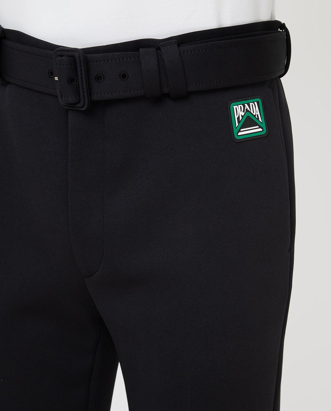 Prada Черные брюки UP00391TQX изображение 5