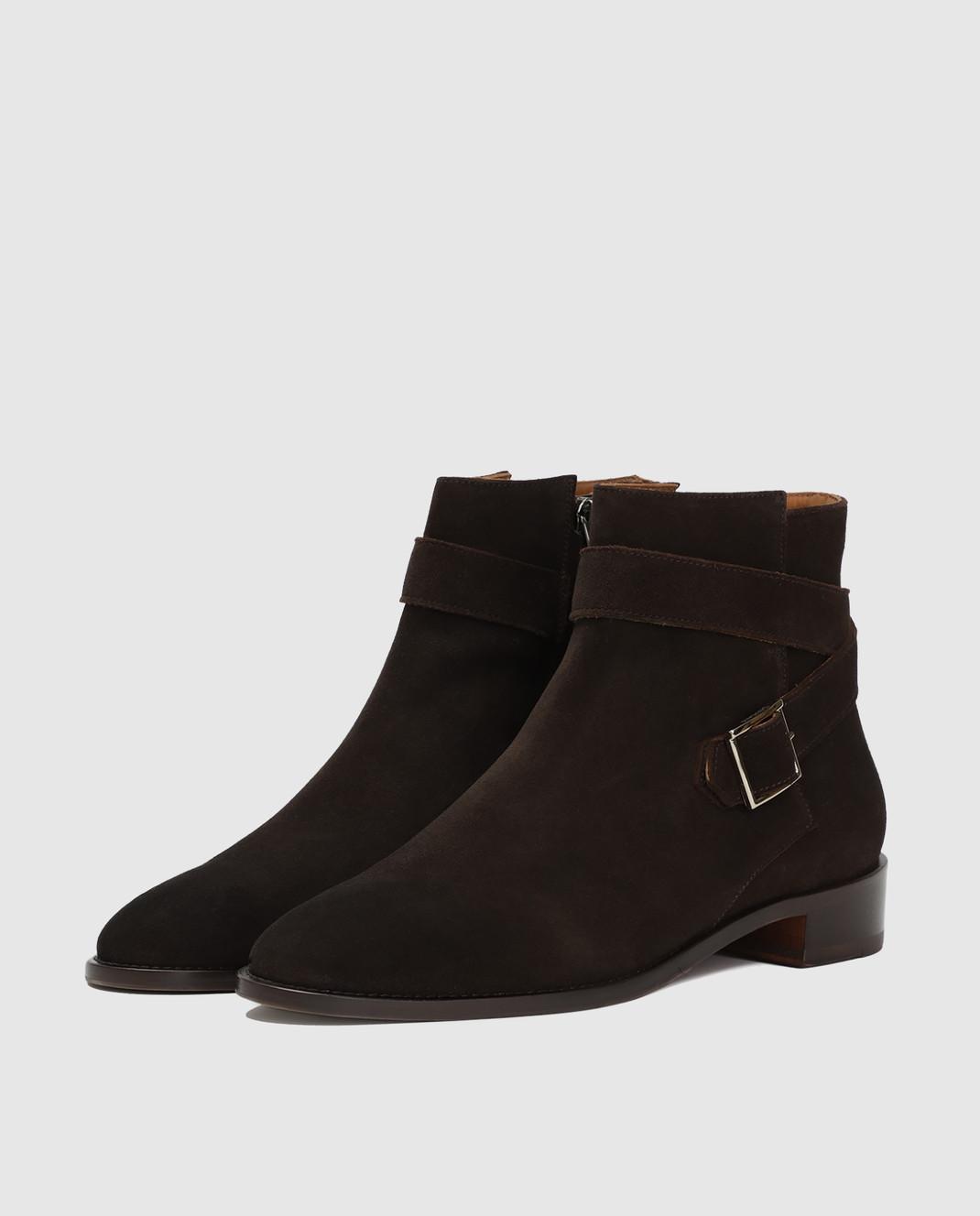 Doucal's Коричневые замшевые ботинки DD8252PATCUF083 изображение 4