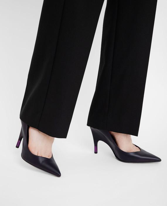 Фиолетовые кожаные туфли hover