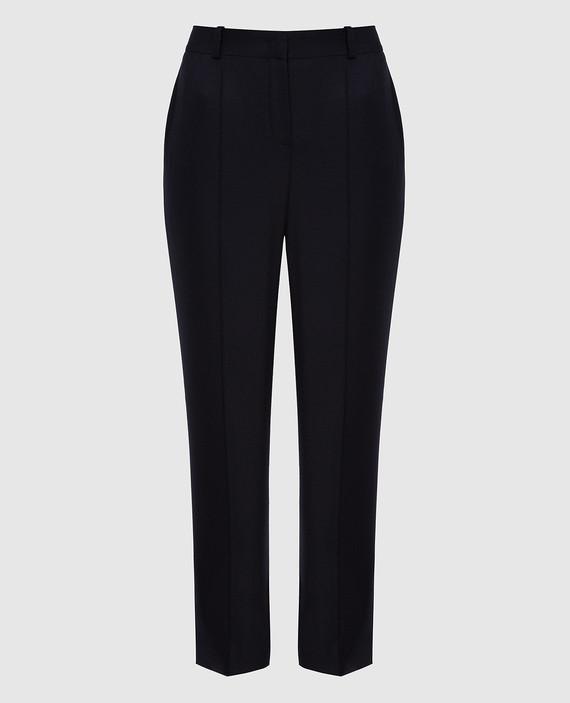Темно-синие брюки из кашемира