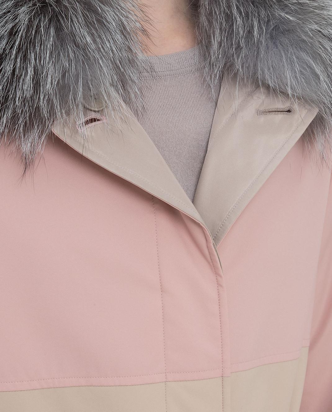 Loro Piana Двусторонняя куртка с воротником из меха лисицы F1FAI2541 изображение 5