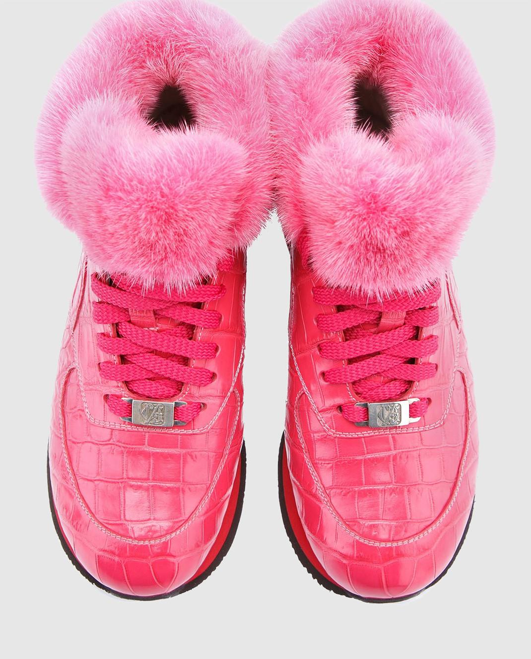 IGOR SENIN Розовые кроссовки ручной работы из кожи крокодила CROCO изображение 4