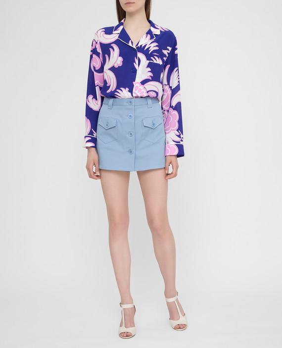 Фиолетовая блуза из шелка hover