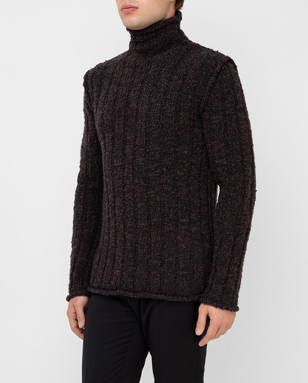 Dolce&Gabbana Коричневый свитер из шерсти изображение 3