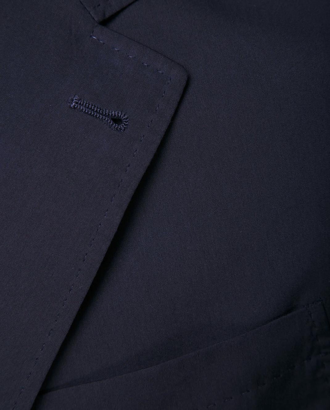 Brunello Cucinelli Темно-синий пиджак MD4007BND изображение 5