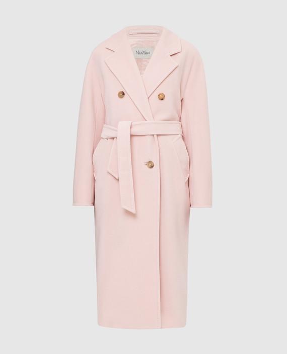 Светло-розовое пальто из шерсти и кашемира
