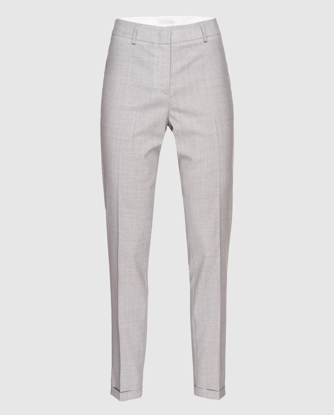 Fabiana Filippi Серые брюки из шерсти PG70118