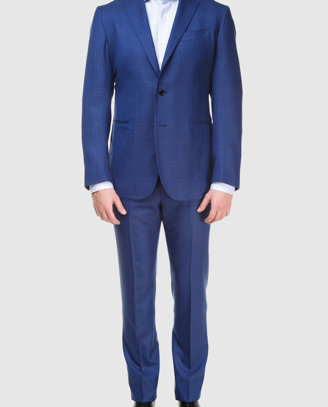 Stile Latino Синий костюм из шерсти AULUCA20A21SWA14 изображение 4