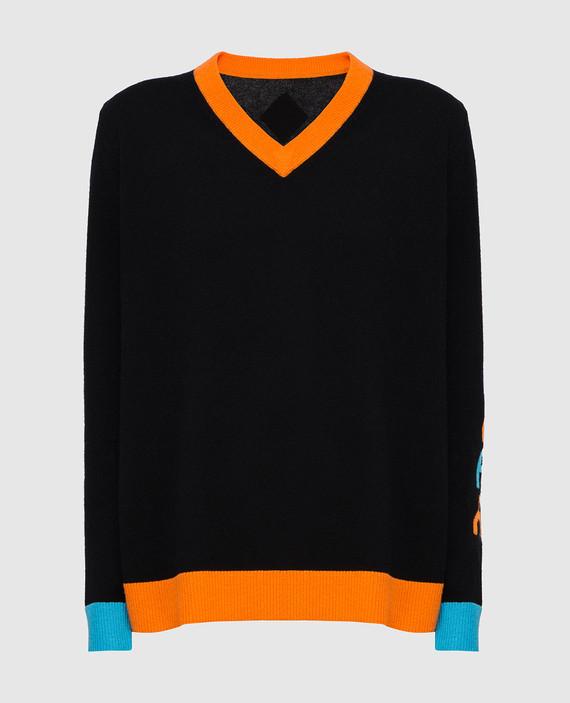 Черный пуловер из кашемира