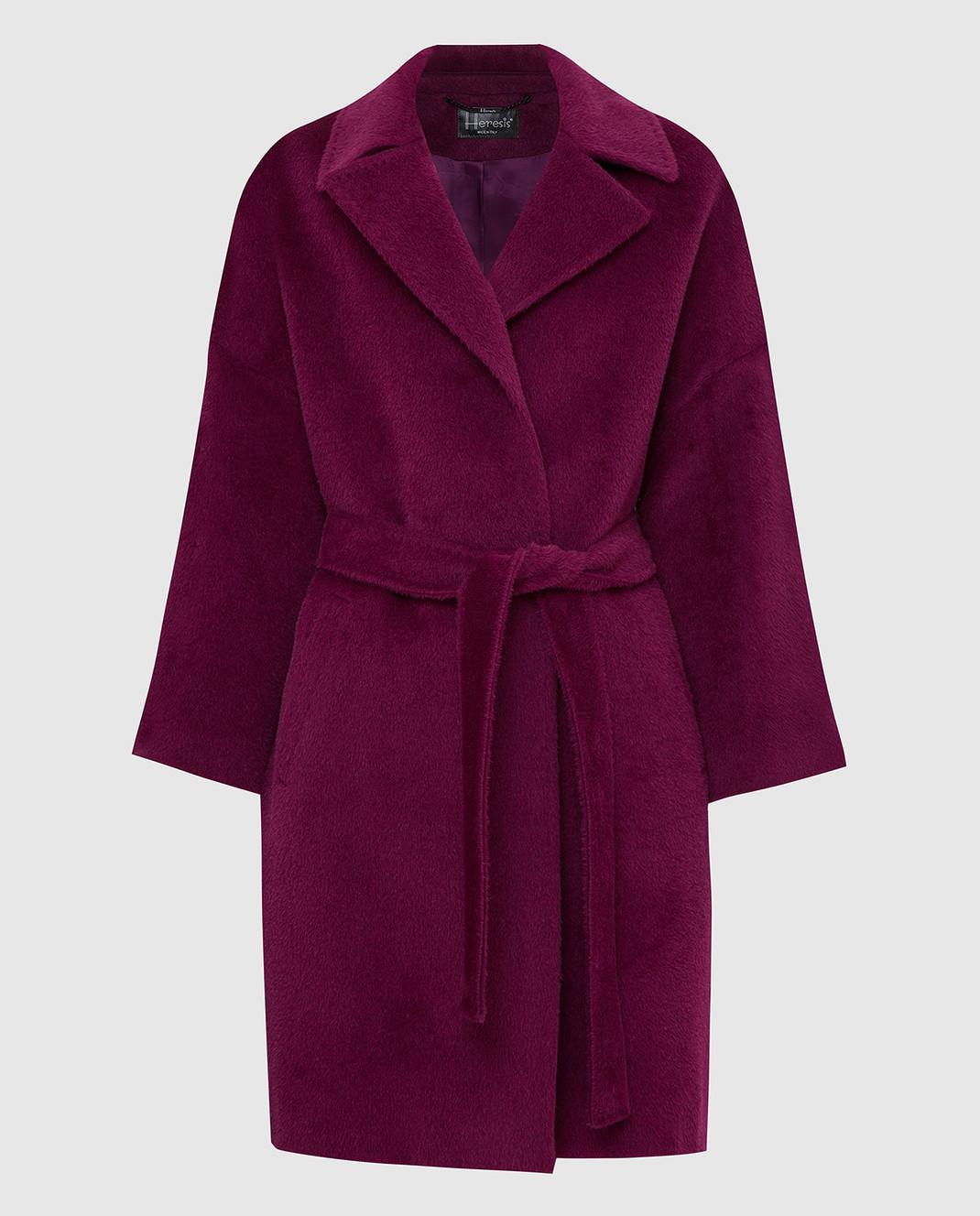 Heresis Светло-фиолетовое пальто из ламы и шерсти K8095