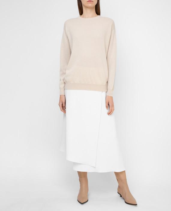 Светло-бежевая юбка hover