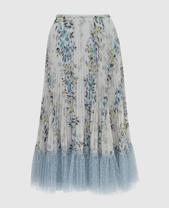 Светло-бирюзовая юбка