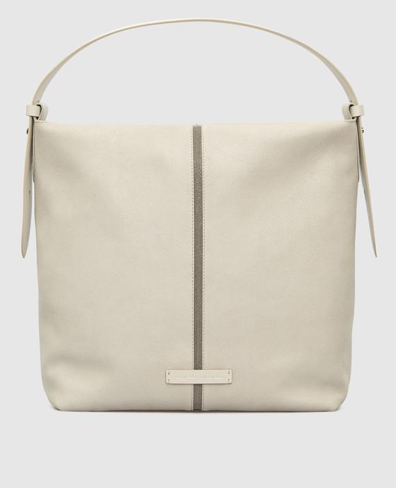 Светло-серая замшевая сумка
