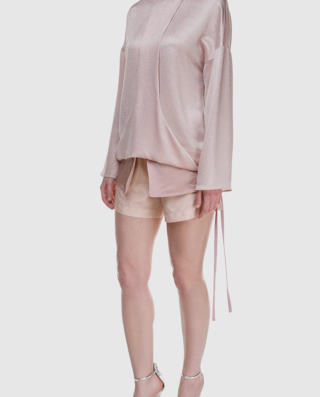 Valentino Розовая блуза PB0AE2R53VF изображение 2