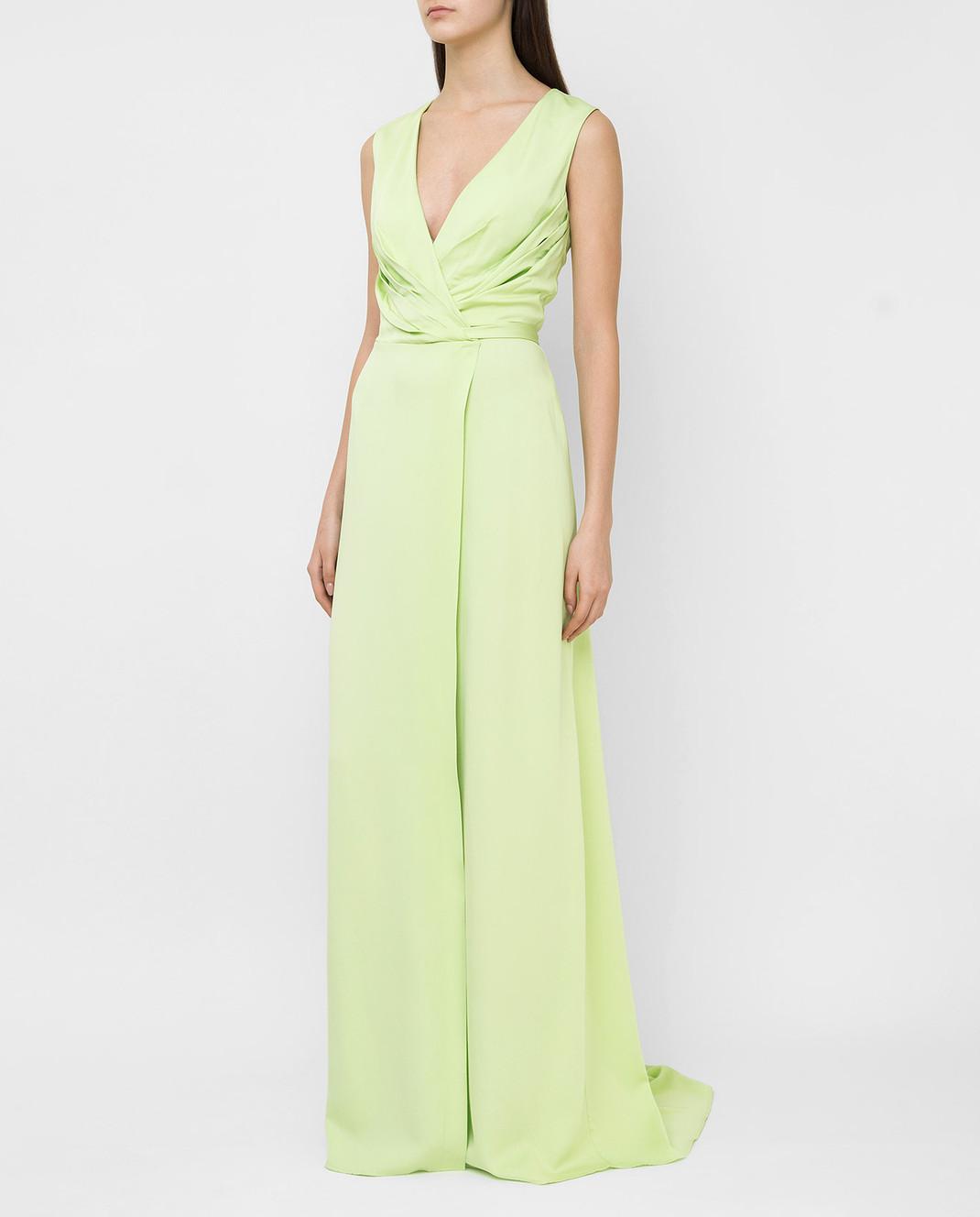 Ermanno Scervino Зеленое платье D282Q397DVY изображение 3