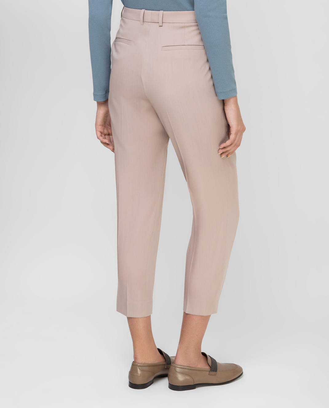 Fabiana Filippi Бежевые брюки из шерсти изображение 4