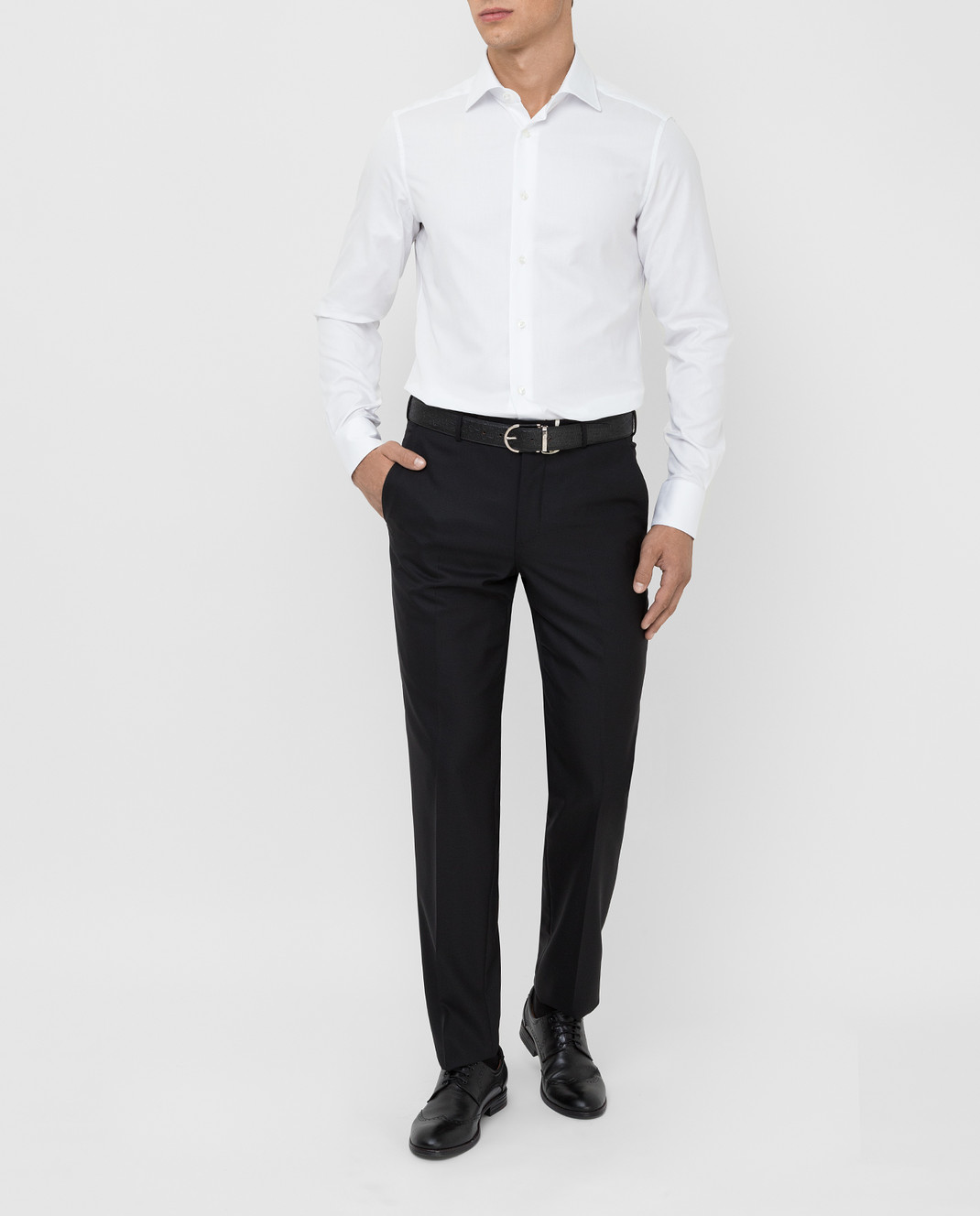 Ermenegildo Zegna Черные брюки из шерсти изображение 2