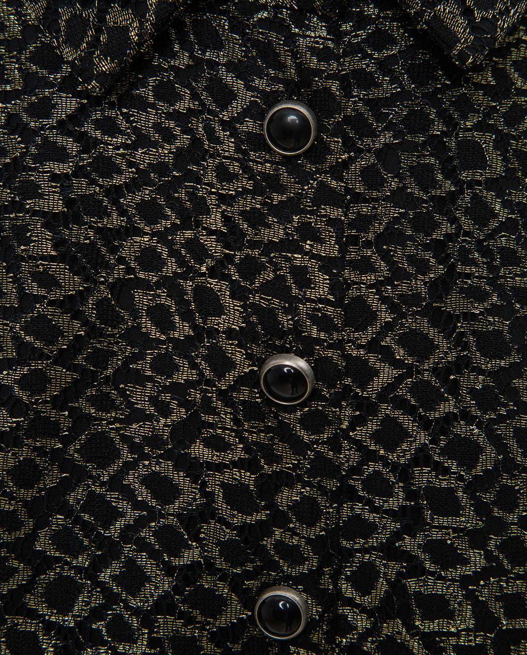 Saint Laurent Золотистое платье изображение 5