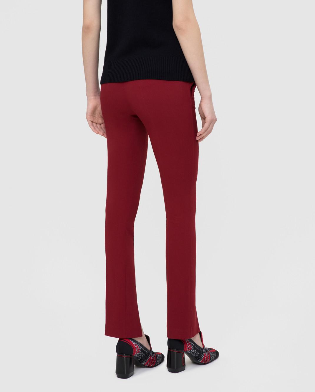 Victoria Beckham Бордовые брюки изображение 4