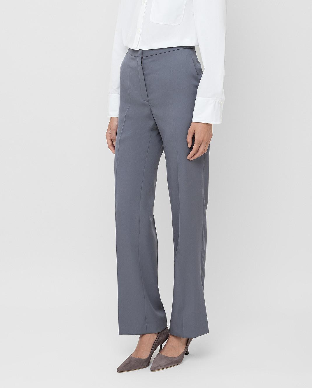 NINA RICCI Серые брюки из шерсти изображение 3