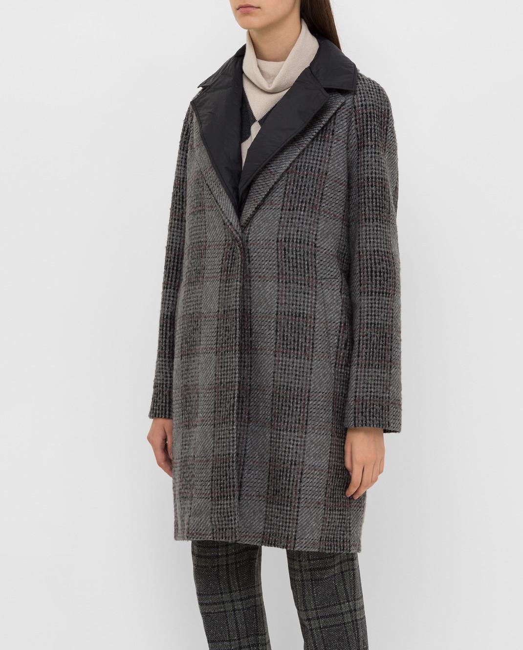 Fabiana Filippi Серое пальто изображение 3