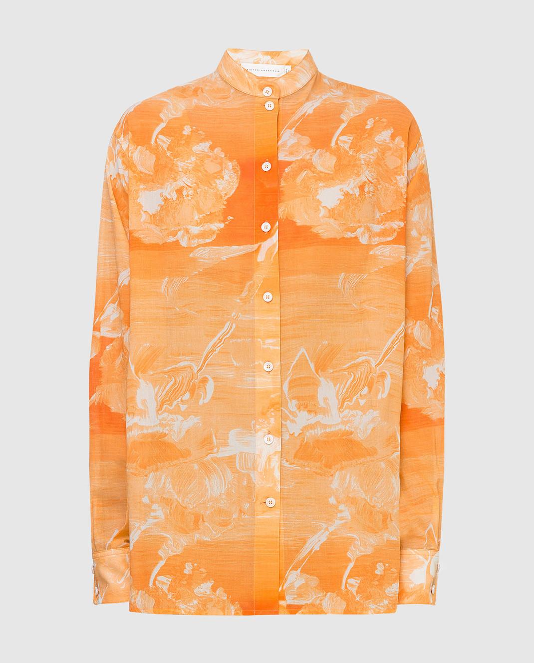 Victoria Beckham Оранжевая рубашка SHLNG1354E
