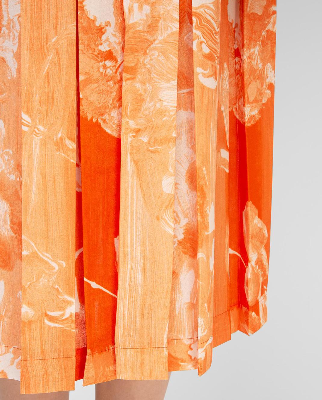Victoria Beckham Оранжевая юбка SKMID3313 изображение 5
