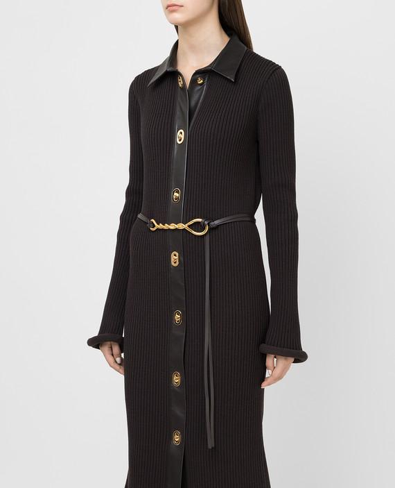 Темно-коричневый кожаный пояс hover