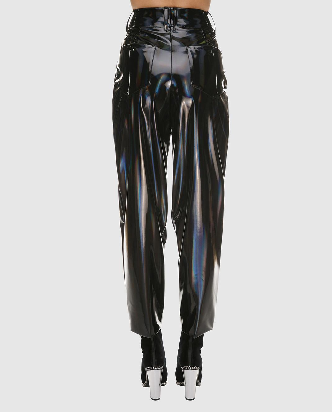 Balmain Черные лаковые брюки PF05334 изображение 4