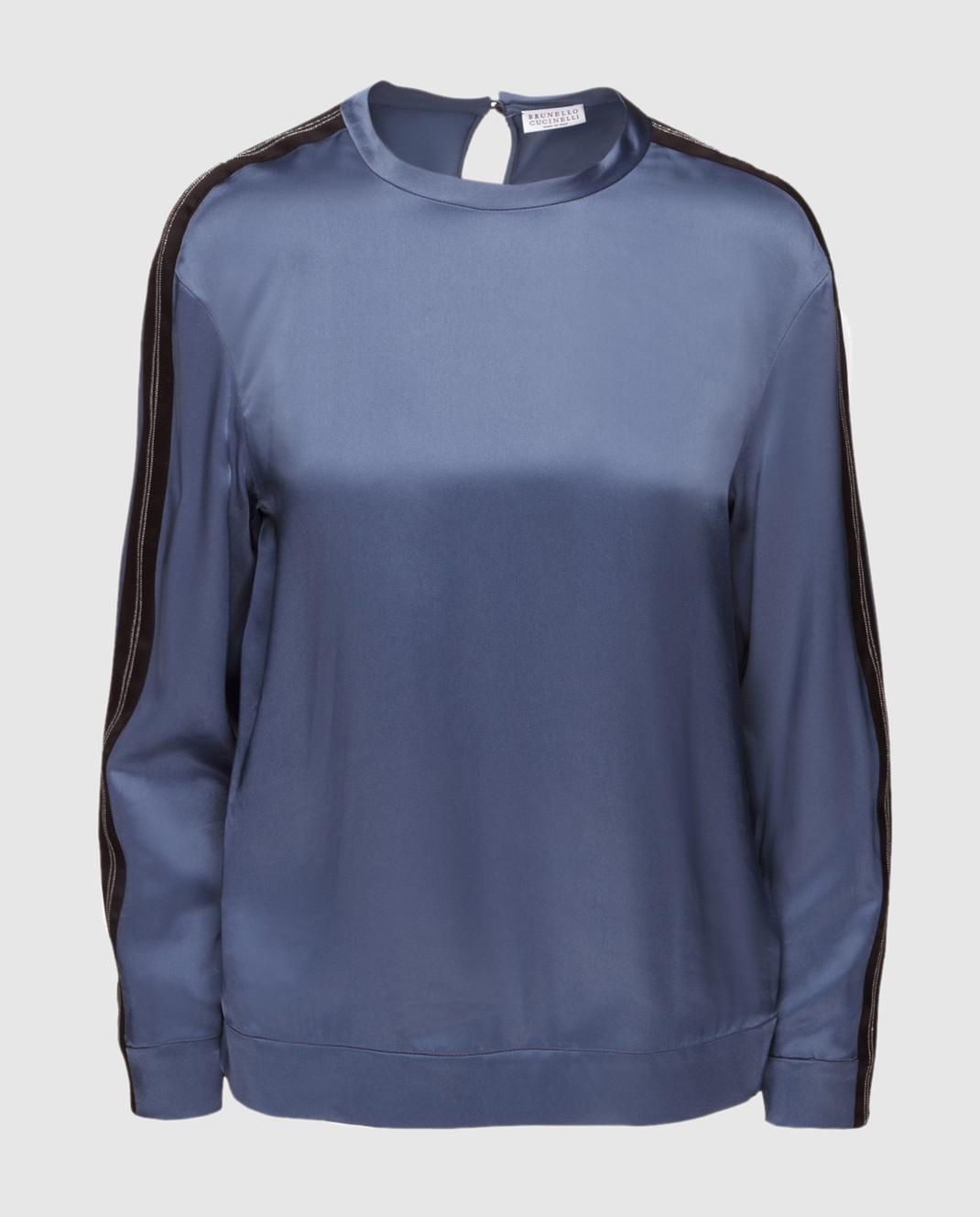 Brunello Cucinelli Синяя блуза M0H34S0720