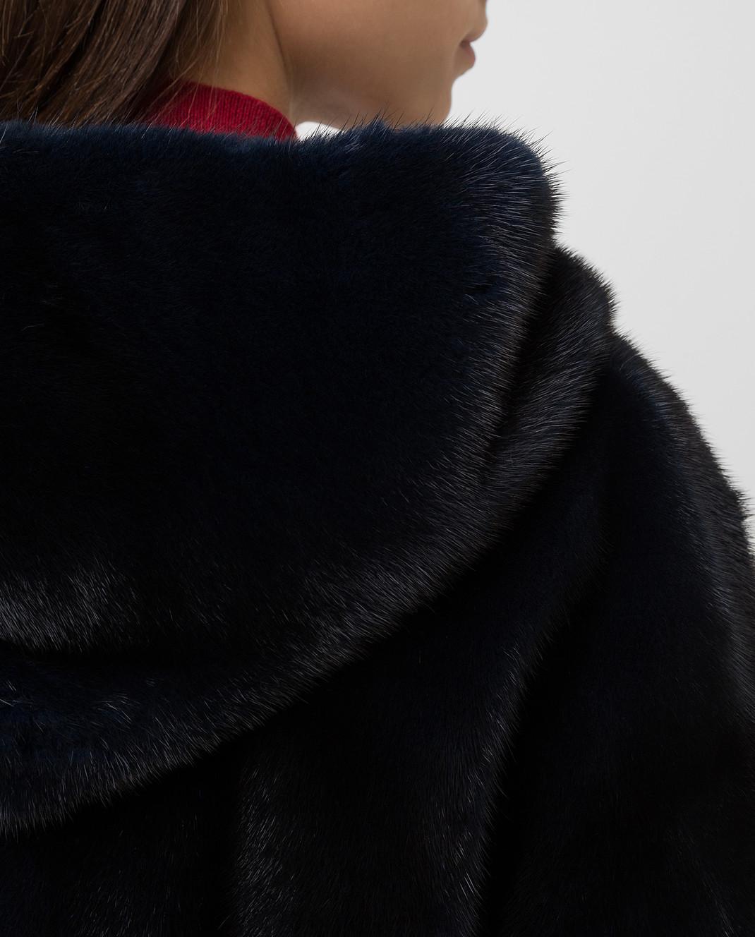 Florence Mode Темно-синяя шуба из меха норки изображение 5