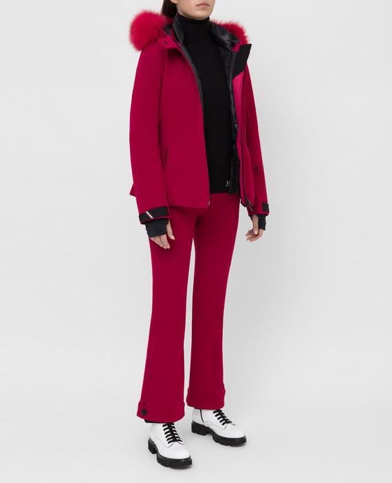 Малиновые лыжные брюки hover