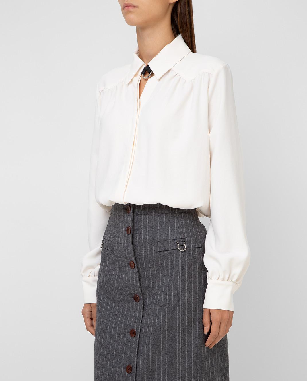 Altuzarra Светло-бежевая блуза изображение 3
