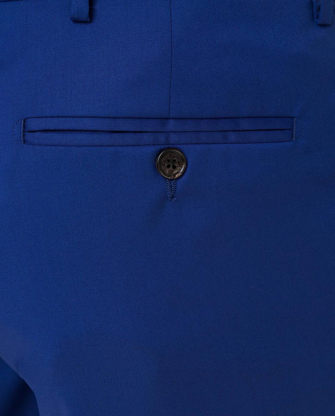 Castello d'Oro Синие брюки из шерсти изображение 5