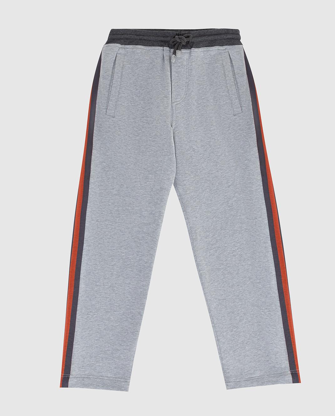Brunello Cucinelli Детские серые спортивные брюки изображение 1