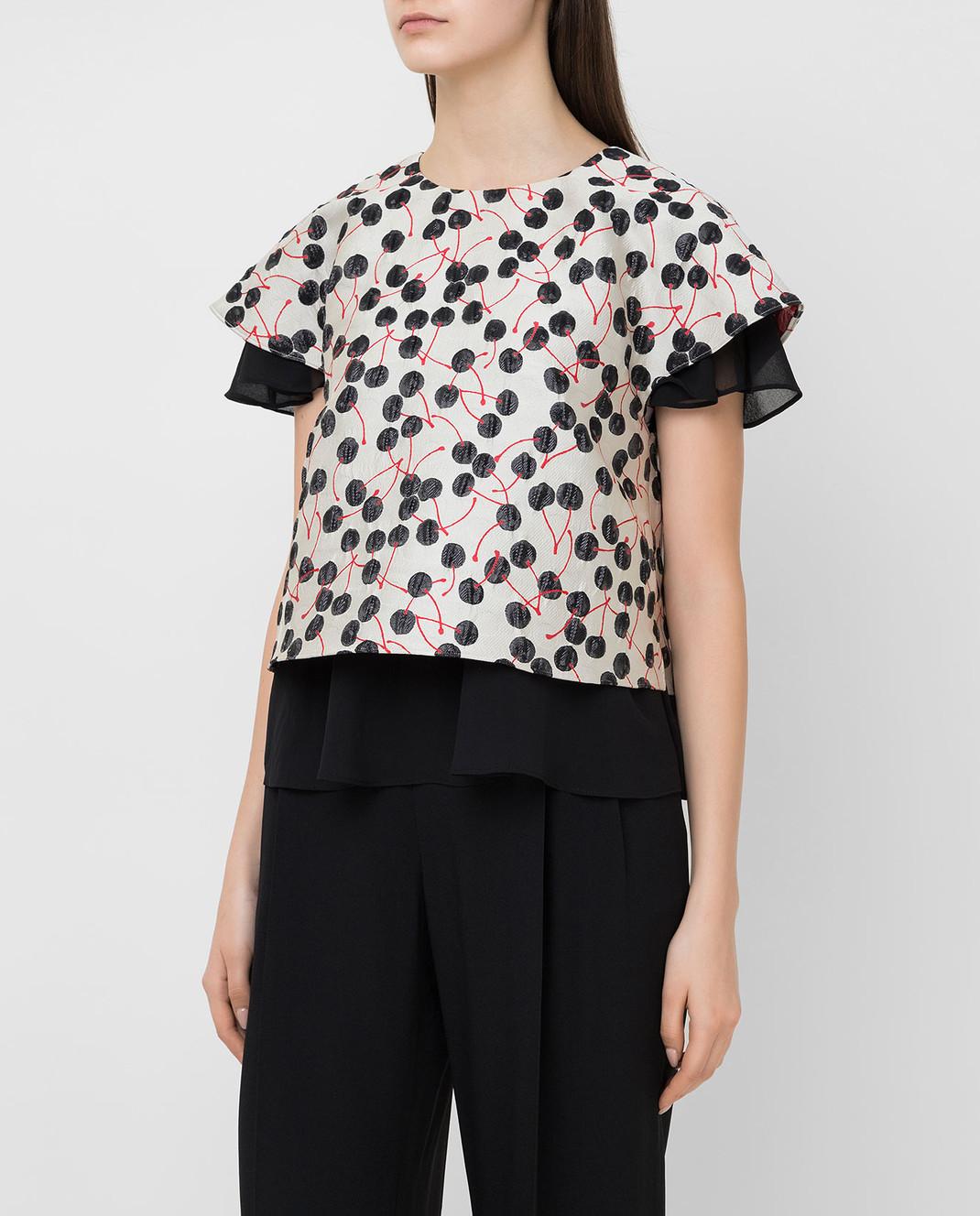 Giamba Светло-серая блуза PG2031 изображение 3
