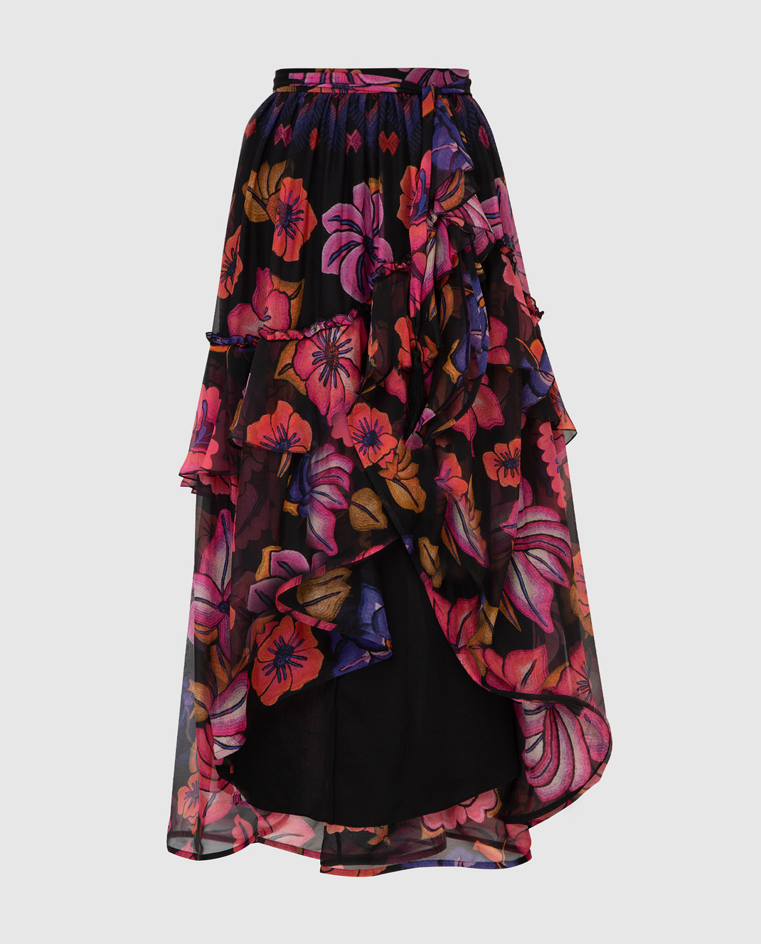 Alberta Ferretti Черная юбка из шелка A0122