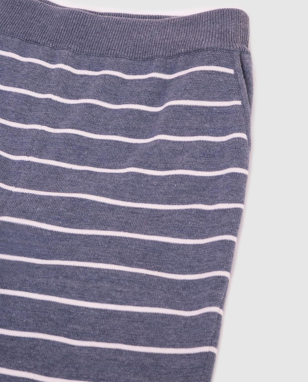 Loro Piana Детские серые брюки F1FAI0610 изображение 3