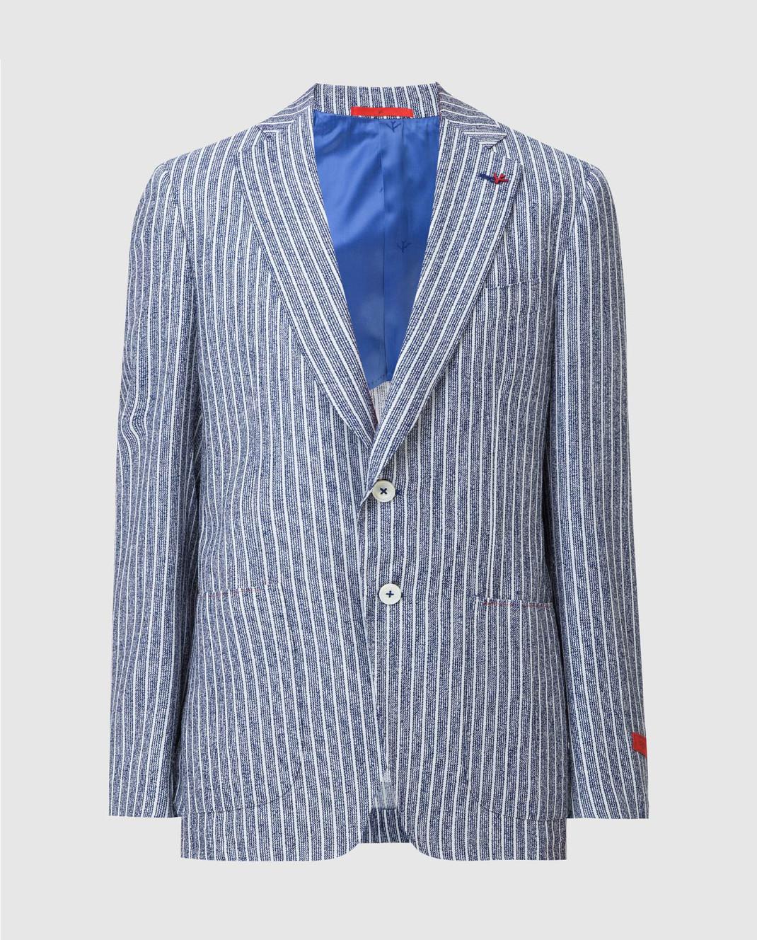 ISAIA Синий пиджак изображение 1