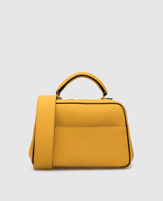 Желтая кожаная сумка