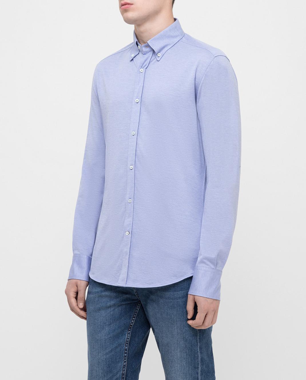 Brunello Cucinelli Голубая рубашка MTS406676 изображение 3