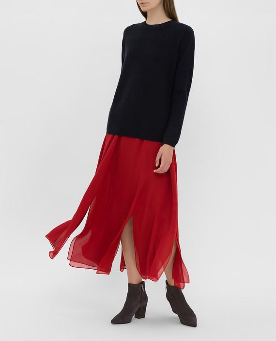 Красная юбка из шелка hover