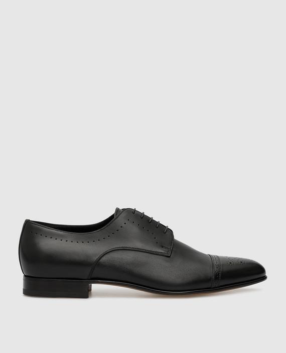 Черные кожаные броги