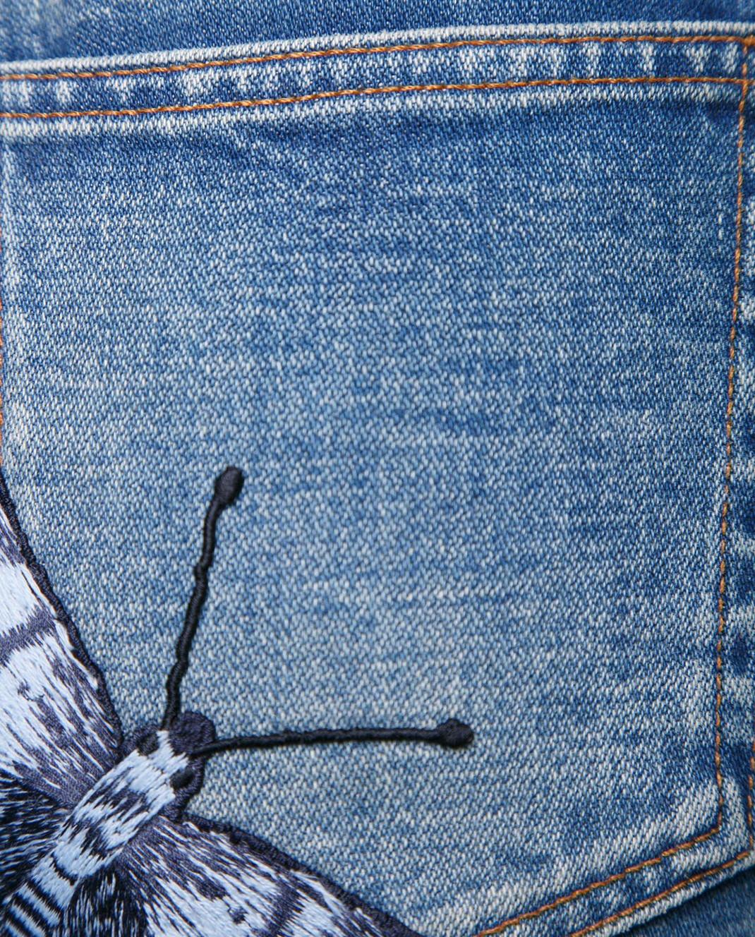 Gucci Синие джинсы с вышивкой 478020 изображение 3