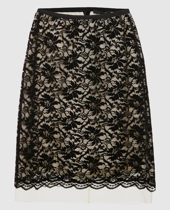 Золотистая юбка из кружева